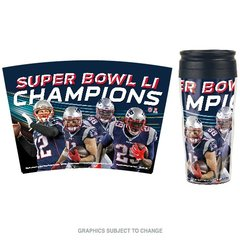 New England Patriots Super Bowl LI Champions Travel Coffee Mug Cup NFL Licensed