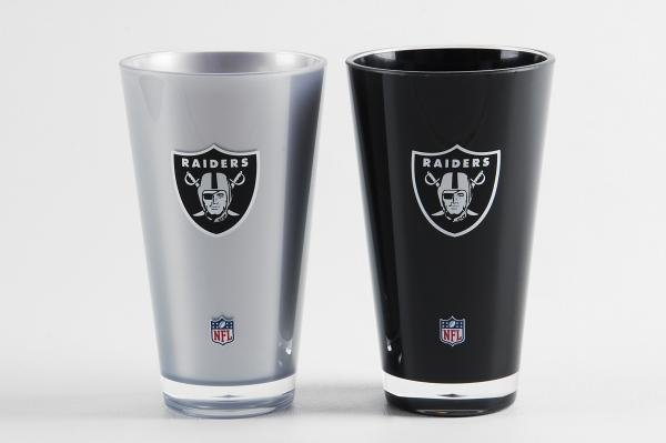Oakland Raiders Insulated Tumbler Cup 2 Pack On Field Colors NFL Licensed