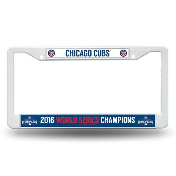 Chicago Cubs World Series Champions License Plate Frame MLB