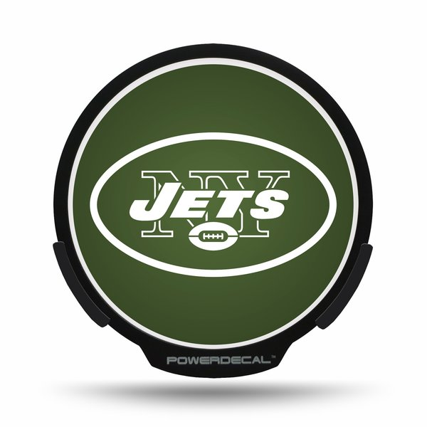 New York Jets LED Window Decal Light Up Logo Powerdecal NFL