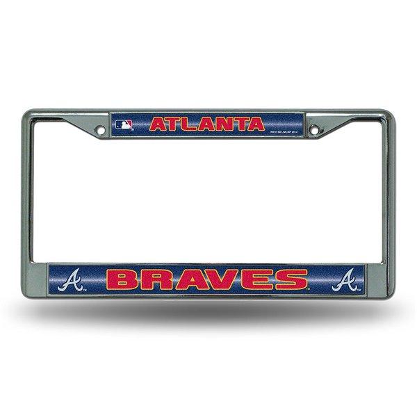 Atlanta Braves Chrome Bling License Plate Frame MLB Licensed