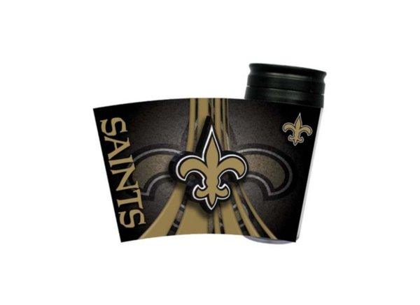 New Orleans Saints Travel Tumbler Coffee Cup NFL