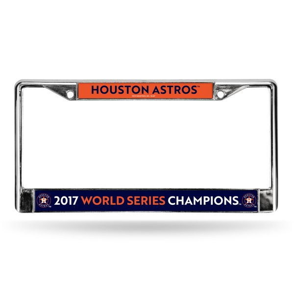Houston Astros 2017 World Series Champions Chrome Metal License Plate Frame MLB