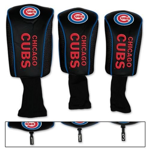 Chicago Cubs Golf Club Covers 3 pack MLB Licensed