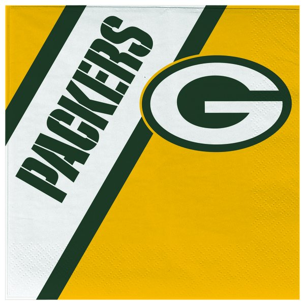 Green Bay Packers Disposable Paper Napkins 20 Count Partyware