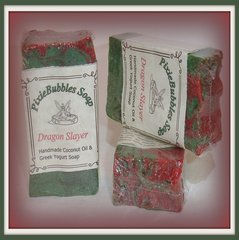 """Dragons Blood"" Coconut Oil Greek Yogurt Handmade Shea Butter Soap Bar"