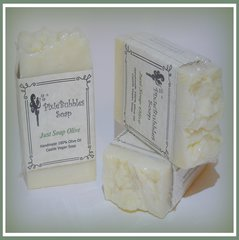 """Just Soap Olive"" Scentless & Colorless 100% Olive Oil Handmade Castile VEGAN Soap Bar"