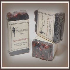 """Chocolate Fudge"" Coconut Oil Greek Yogurt Handmade Shea Butter Soap Bar"