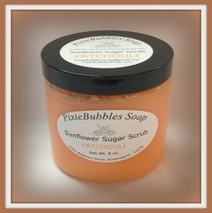 Patchouli Sunflower Coconut Oil Beeswax Sugar Scrub 8 oz.
