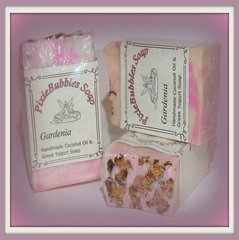 """Gardenia Powder"" Coconut Oil Greek Yogurt Handmade Shea Butter Soap Bar"