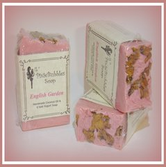 """English Garden"" Coconut Oil Greek Yogurt Handmade Shea Butter Soap Bar"