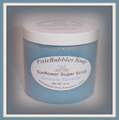 Sarasota Mermaid Sunflower Coconut Oil Beeswax Sugar Scrub 8 oz.