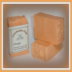 """Orange"" Coconut Oil Greek Yogurt Handmade Shea Butter Soap Bar"