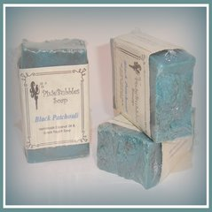 """Black Patchouli"" Coconut Oil Greek Yogurt Handmade Shea Butter Soap Bar"