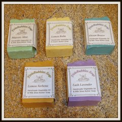 Mixed Lot of 5 Handmade Vegetable Oil Bar Light Scent Soaps