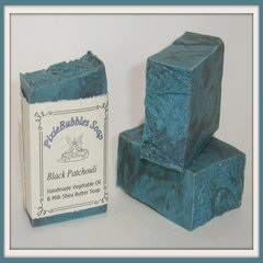 """Black Patchouli"" Vegetable Oil & Milk Handmade Shea Butter Soap Bar"