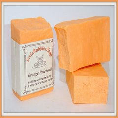 """Orange Patchouli"" Vegetable Oil & Milk Handmade Goat's Butter Soap Bar"