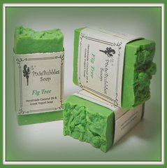 """Fig Tree"" Coconut Oil Greek Yogurt Handmade Shea Butter Soap Bar"