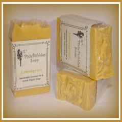 """Lemongrass"" Coconut Oil Greek Yogurt Handmade Shea Butter Soap Bar"
