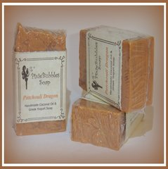 """Patchouli Dragon"" Coconut Oil Greek Yogurt Handmade Shea Butter Soap Bar"
