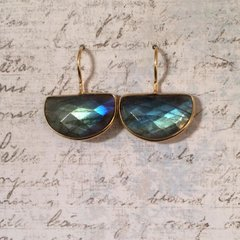 Half Moon Labradorite Earrings