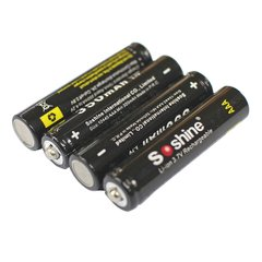 SoShine 10440 350mAh Li-Ion Rechargeable Battery (4-Pack w/ Case)