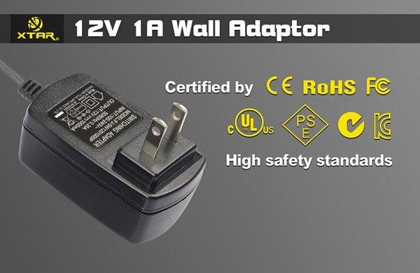 XTAR VP Series Wall Adapter - 1amp Output