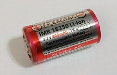 EagTac 18350 800mAh IMR LiMn Rechargeable Battery