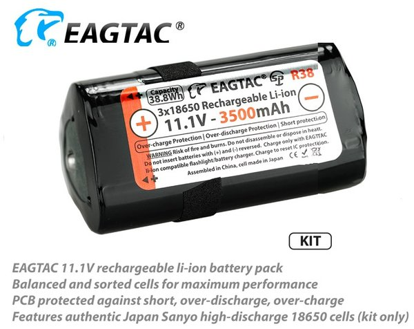 EagTac MX / SX-R R38 3500mAh Battery Pack