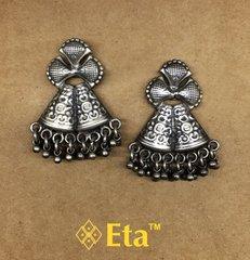 Silver tribal earring
