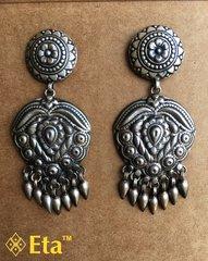 Silver tribal patri earring
