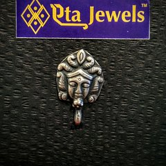 Tribal mata silver nose stud
