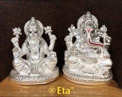 Silver ganesha lakshmi idols