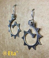 Silver spiral earring