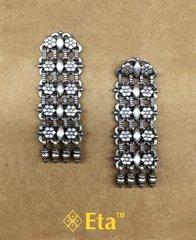 Silver long chain earring