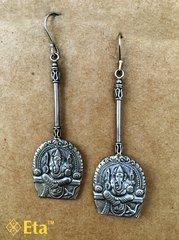 Silver ganesha earring