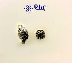 Silver nose pins (Set of 2)
