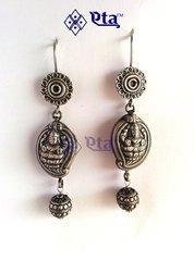 Silver lakshmi earring