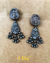 Silver lakshmi mata earring