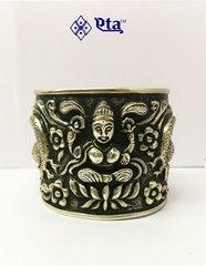 Silver lakshmi hand cuff