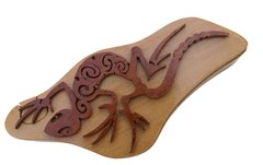 Leaf Tailed Gecko Tribal Art Wooden Secret Puzzle Box