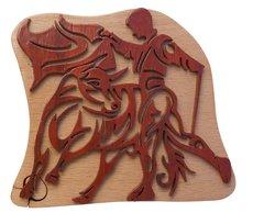 Matador & Bull Tribal Art Puzzle Box