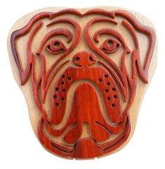 Boxer Dog Wooden Secret Puzzle Box