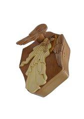 Praying Angel Intarsia Puzzle Box