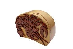 Maine Lobster Tribal Art Wooden Secret Puzzle Box