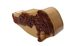Black Vulture Tribal Art Puzzle Box