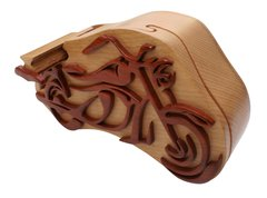 Harley Motorcycle Wooden Secret Puzzle Box