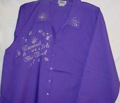 Purple Shirt - Diamonds are a Girl's Best Friend