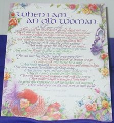"Card with ""When I am an Old Woman"" Poem"