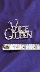 Rhinestone Vice Queen Pin